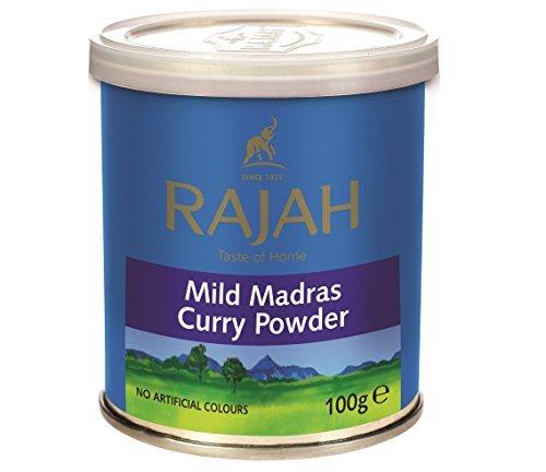 [ 100g ] RAJAH Mildes Madras Curry Pulver / MILD Madras Curry Powder