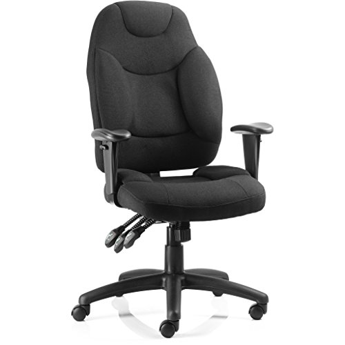 Best Saving for Dynamic OP000064 Fabric Galaxy Task Operator Chair with Arms – Black Discount