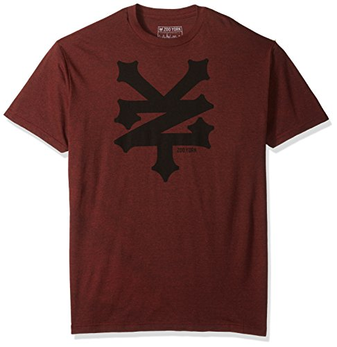 zoo-york-mens-short-sleeve-cracker-t-shirt-machine-red-heather-x-large