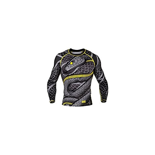 VENUM Rashguard, Snaker, L/S, grau, Shirt, Top, Gym, Compression, MMA, BJJ