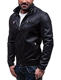BOLF - Veste - Faux cuir - Fermeture éclair – EXTREME EX305 – Homme