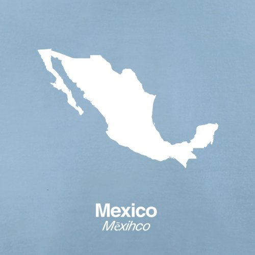 Mexico / Mexiko Silhouette - Herren T-Shirt - 13 Farben Himmelblau