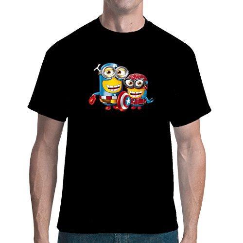 Im-Shirt - Minion Heroes cooles unisex Fun Shirt - Schwarz 4XL (Je Nach Film Kostüme)