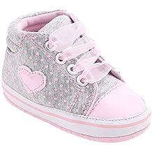 Zapatos de bebé,Tongshi Forma de corazón de zapato de lona niña zapatos zapatillas antideslizante suave único niño del bebé