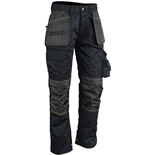 Wright Wears Men Work Cargo Trouser Black Heavy Duty Multi Pockets, Knee Pad Pockets, Like Apache