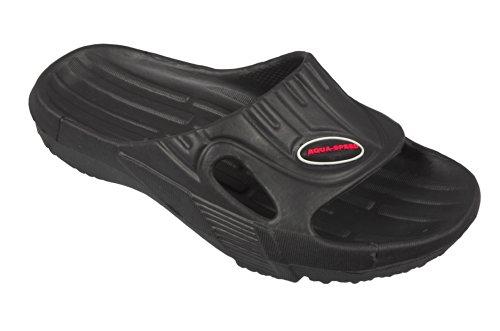 Aqua-Speed , Chaussures spécial piscine et plage pour homme Noir - Noir