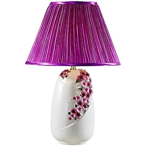 Camera da letto Lampada da tavolo di nozze comodino Lampada da tavolo decorazione del salone Lampada da tavolo ( colore : Viola ) - Ricevimento Di Nozze Tavolo Decorazioni