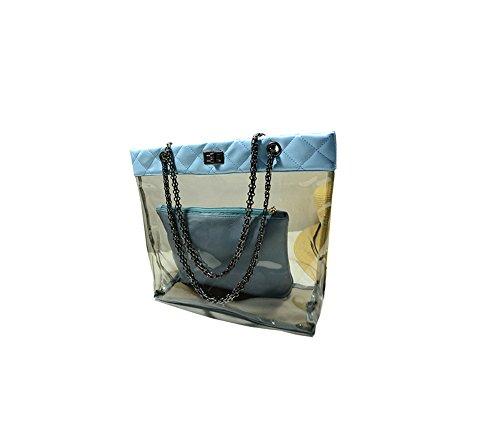 jothin grosse capacità borsa da spiaggia/Mode spiaggia tasche 100% impermeabile Badetasche nero 37cm*19cm*29cm Blau