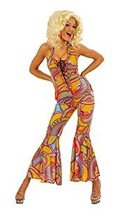 WIDMANN 70 Funky polluelo Mono Medio de vestuario para 1970 Disco del Hippie del vestido de lujo