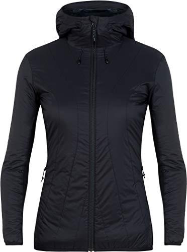 Icebreaker Damen Hyperia Lite Hybrid Hooded Jacket Jacke, Black, S