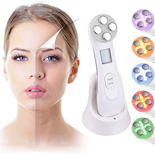 Ultraschallgerät, Face Massager Akne Lichttherapie Kosmetisches Ultraschallgerät Schönheitsgerät Gesicht Massagegeräte Verjüngen, Hautverjüngung Durch ION und Photon, Anti-falten Anti Aging und Akne