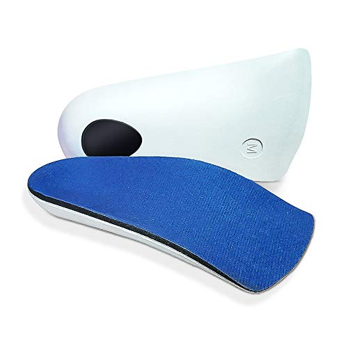 3/4 Orthotic Insoles Arch Supports Heel Pads 3 Sizes for Correct Position of Arch, Plantar Fasciitis Flat Feet, Fallen Arches, Pronation, Heel Pain...