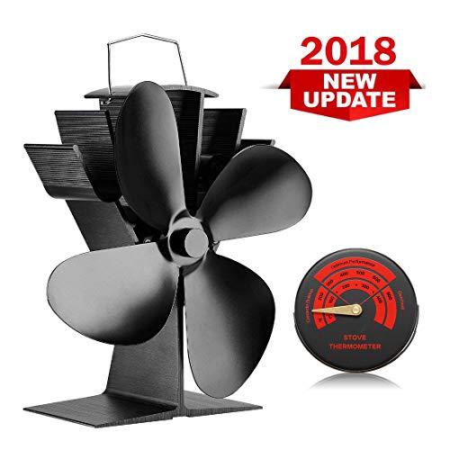 4 flügel kenley ofenventilator kaminventilator lüfter für kamin ventilatoren kaminofen ofen stromloser ohne strom ventilator stromlos holzöfen öfen fan
