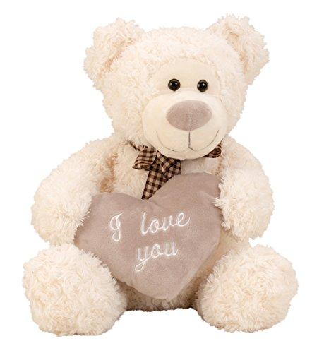 Ours en peluche peluche en peluche 32 cm de haut avec le coeur que je vous aime