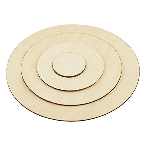 Recorte círculo madera redondo inacabado natural