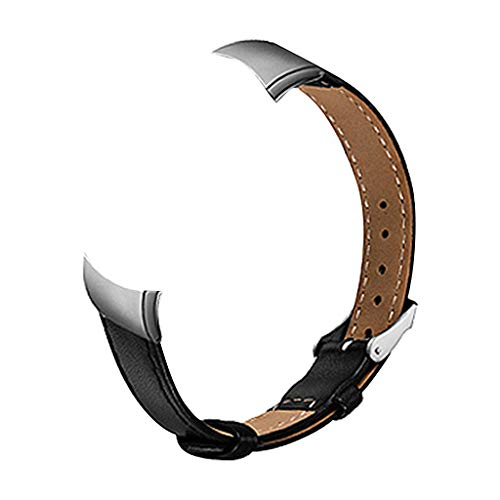 Für Huawei Honor 4 Armband MuSheng Mode Sports Leder Strap Ersatzarmband Gürtel Schnalle Damen Herren Bracelet Sport Band Strap Wristband für Huawei Honor 4 (Schwarz)