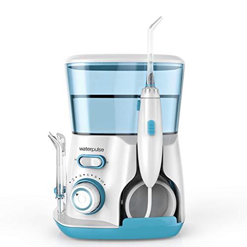 Tragbare Water Flosser Professionel Munddusche 10 Druckstufen 5 Ersatzdüsen 800ML Wassertank Zahnpflege Zahnzwischenraumreinigung