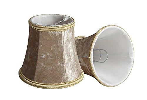 Splink 2 Pcs Lampenschirme Vintage Stoff handgemacht Leuchtenschirme für Tisch Lampe 80 x 120 x 110mm