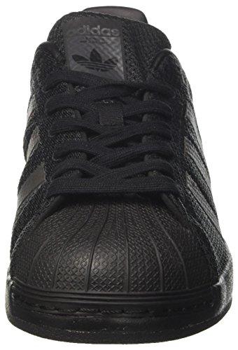 adidas Superstar Bounce, Scarpe da Basket Uomo Nero (Cblack/cblack/cblack)