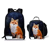 HUGS IDEA Cut Denim Blue Backpack for Kids Cat Head School Book Bag