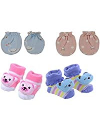 SHOP FRENZY Fancy Designer Baby Girl/Boys Booties Socks Shoes Cotton and Soft for Kids (0-1 Years) Pink Blue Purple RED Black Green Pack of 2/3