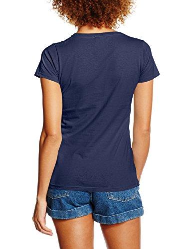 Disney Damen T-Shirt Princess Filled Sillhouette Ariel Blau - Blau (Marineblau)