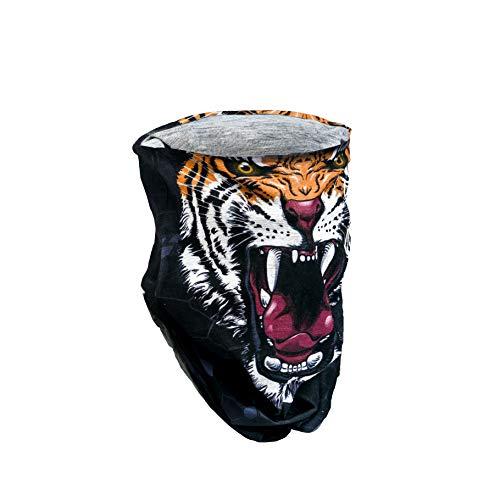 F!OFF Elastisches Gesichts Bandana Schal | Tiger Muster | Kann als Gesichtsschild, Halsband, Sturmhaube, Haarband verwendet werden | Perfekt für den Alltag während Sie verschiedene Aktivitäten ausüben