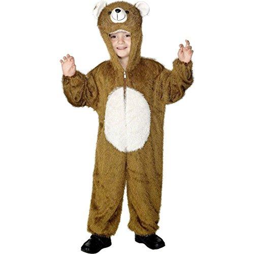 NET TOYS Kinder Bären Kostüm Kinderkostüm braun 5-8 Jahre 128 - 140 cm Bärkostüm Ganzkörperkostüm Tierkostüm Bär Bärenkostüm ()