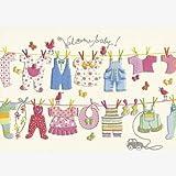 Glückwunschkarte zur Geburt Englisch Welcome Baby