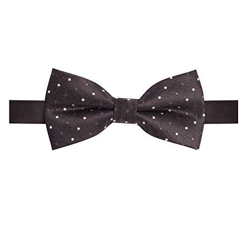TIE065-Mens Fashion Bow Ties Wedding Ascot Ties in Polkadot Pattern (Bow Polka Dot Pattern)