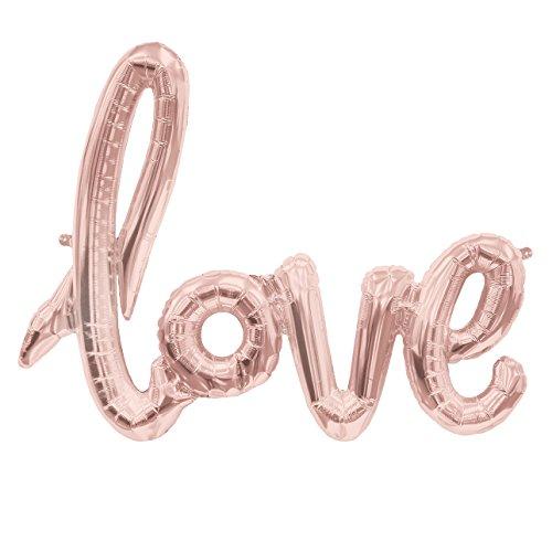 """""""love"""" Folienballon Schriftzug ca. 100cm lang rosegold"""