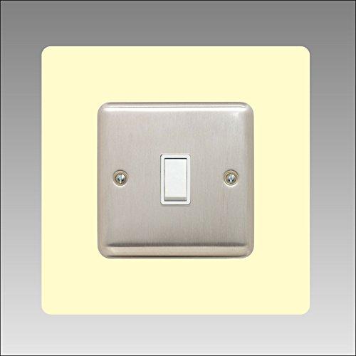 Einzel-Surround | Back Panel oder Finger Teller | 3mm | 16Farben (schwarz, grau, weiß, elfenbeinfarben, blau, braun, grün, rot, rosa, orange, gelb) erhältlich | quadratisch Acryl, elfenbein -