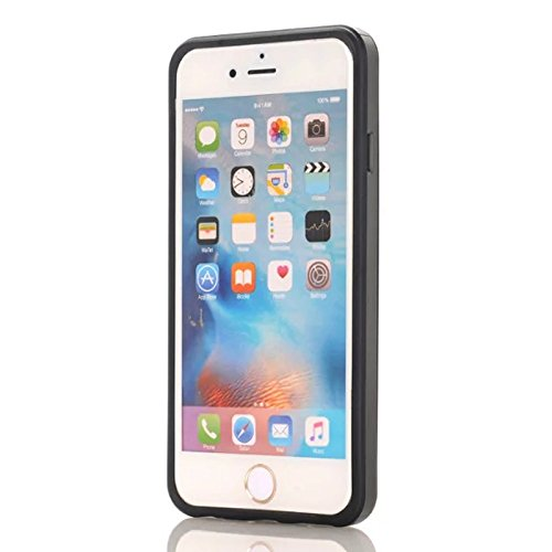 Coque Apple iPhone 4 4s, Forhouse Double Couche Coque Doux Svelte TPU Heavy Duty PC 2 in 1 Portefeuille Coque Sliding[Fente pour Carte]Antidérapant Antichoc Protection de Housse Etui pour Apple iPhone Noir