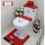 Mings Gadget familiari 3 Pz. Decorazioni Natalizie Happy Santa Coprivaso copridivano e Set Completo di tappeti