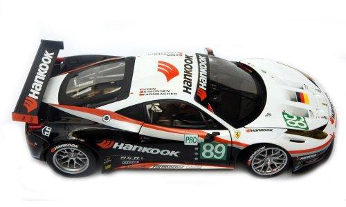 "Preisvergleich Produktbild Ferrari 458 Italia GT2 Le Mans 2011 Farnbacher Racing ""HANKOOK"" #89 1:18 Driver: Farnbacher, Simonsen and Keen Mattel 1:18 Artikel-Nr.: X5473"
