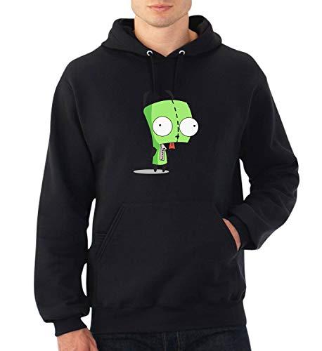 Invader Zim Doggo_A0158 Fan Art Hoodie Sweater Kapuzenpullover Sweatshirt Pullover Funny Christmas MD Black (Invader Zim Hoodie)