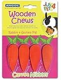 Friandises à mâcher pour petits animaux de carotte en bois–Ancol (TP) (awcn/164001)