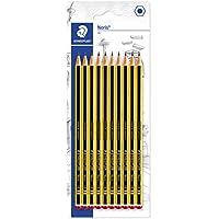 Staedtler Noris 120, Crayons à papier HB en bois de haute qualité, Étui blister de 10 crayons HB, 120-2BK10D