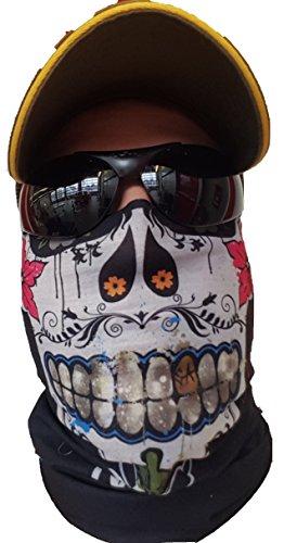 """""""Original SA Company aus den USA """"""""Sugar MAMA"""" HALSTUCH Schal Schlauchtuch MASKE Kälteschutz Gesichtsmaske Mexikanischer Totenkopf Halloween Skifahren Snowboard Angeln Jagen Fahrrad Motorrad Paintball"""