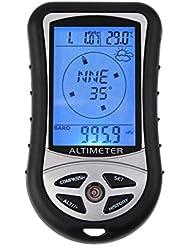 Outdoor randonnée camping 8 en 1 LCD numérique compas altimètre baromètre thermomètre température horloge calendrier
