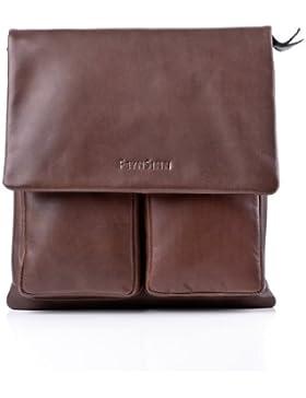 FEYNSINN® Umhängetasche NIA - Unisex Handtasche mit Schultergurt groß Ledertasche - Schultertasche Damen und Herren...