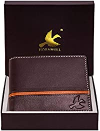 Hornbull Men's Denial Genuine Leather RFID Blocking Wallet