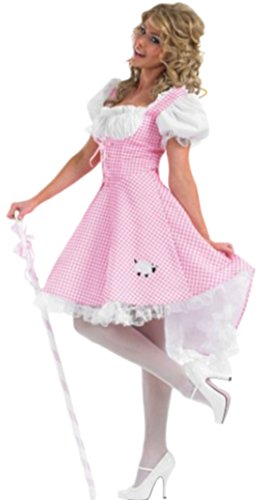 Fancy Ole - Damen Frauen Little Bo Peep Kleid, Kostüm, Karneval, Fasching, M, (Peep Little Bo Erwachsene Kostüme)
