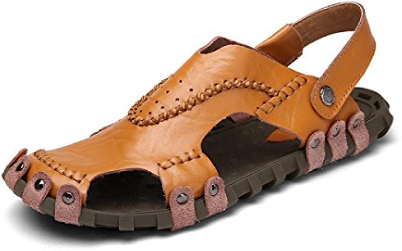 51a89b31b5b1bc dfb respirable occasionnel chaussures sandales sandales sandales en cuir et chaussures  confortables pantoufles pour hommes, femmes, Marron -39 b073y64tv4 ...