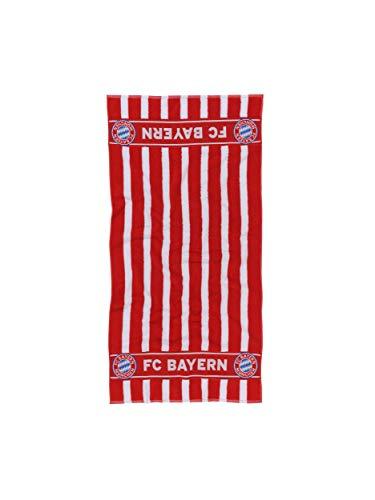 FC Bayern München Duschtuch, Handtuch rot-weiß gestreift, 70x140 cm