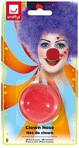 Smiffys Unisex Clown Nase, One Size, Rot, 164