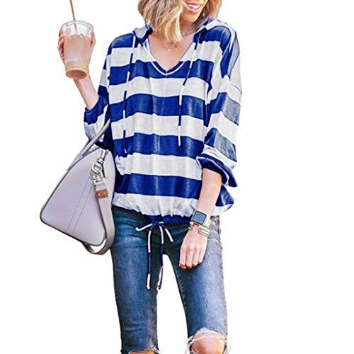 Sanahy Damen Kapuzenpullover Ladies Sleeveless Jersey Hoodie, leichtes Streifen Ärmel T-Shirt mit Kapuze top Blusen - Hochbeet-anschlüsse