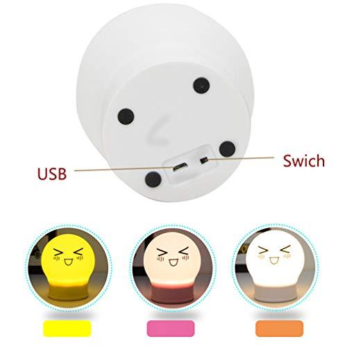 PDDXBB Sensor Led Nachtlicht 7 Farben 5 Modi USB Wiederaufladbare Led Lustige Nachtlicht Baby Kindergarten Lampe Plus Lampe Rosa 125 * 97 * 97Mm -