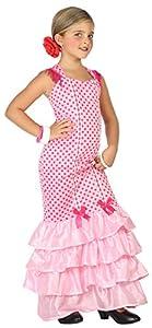 Atosa-39393 Disfraz Flamenca, Color Rosa, 10 A 12 Años (39393