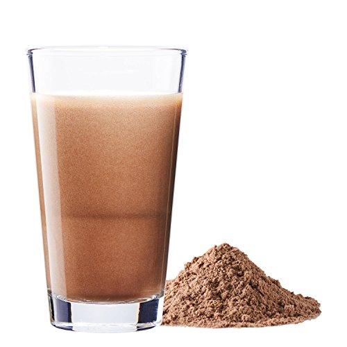 Vegan Protein (Schokolade) - Reis-, Hanf-, Soja-, Erbsen-, Chia-, Sonnenblumen- und Kürbiskernprotein + Kokosmilch, Superfoods und Verdauungsenzymen - 600 Gramm Pulver mit Schokoladengeschmack - 3